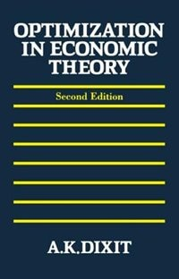 Book Optimization in Economic Theory by Avinash K. Dixit