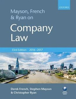 Book Mayson, French and Ryan on Company Law by Derek French