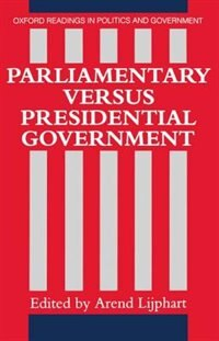 Book Parliamentary versus Presidential Government by Arend Lijphart