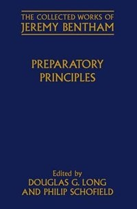 Book Preparatory Principles by Jeremy Bentham
