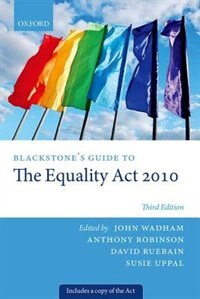Book Blackstones Guide to the Equality Act 2010 by John Wadham