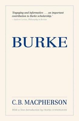 Book Burke: Reissue by C. B. Macpherson