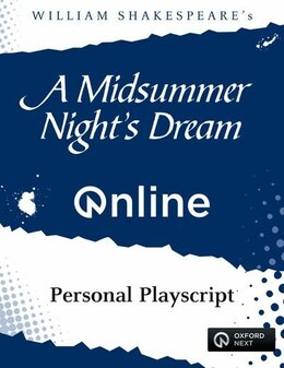 Book A Midsummer Nights Dream ONLINE Personal Playscript by William Shakespeare