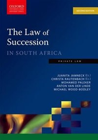 Book The Law of Succession in South Africa by Juanita Jamneck