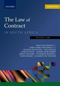 Book The Law of Contract in South Africa by Dale Hutchison