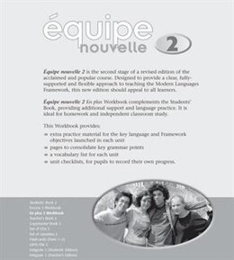 Book Equipe Nouvelle: 2 En Plus Workbook by Daniele Bourdais