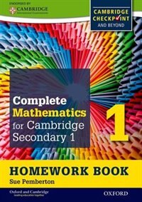 Oxford International Maths for Cambridge Secondary: Level 1 Homework Book 1 (Pack of 15): For…