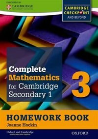Book Oxford International Maths for Cambridge: Secondary 1 Homework Book 3 (Pack of 15): For Cambridge… by Sue Pemberton