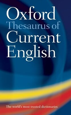 Book Oxford Thesaurus of Current English by Oxford