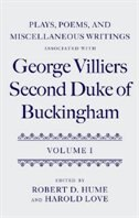 Book Plays, Poems, and Miscellaneous Writings associated with George Villiers, Second Duke of Buckingham… by Robert D. Hume