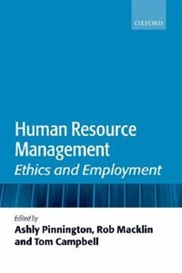 Book Human Resource Management: Ethics and Employment by Ashly Pinnington