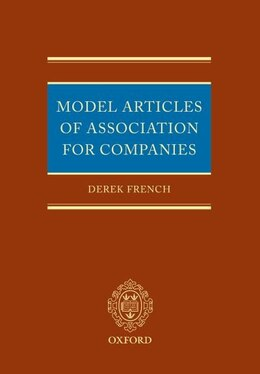 Book Model Articles of Association 1856-2007 by Derek French