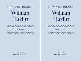 Book New Writings of William Hazlitt by Duncan Wu