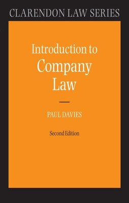 Book Introduction to Company Law by Paul Davies