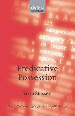 Book Predicative Possession by Leon Stassen