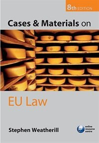 Book Cases and Materials on EU Law by Stephen Weatherill