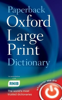 Book Paperback Oxford Large Print Dictionary by Oxford