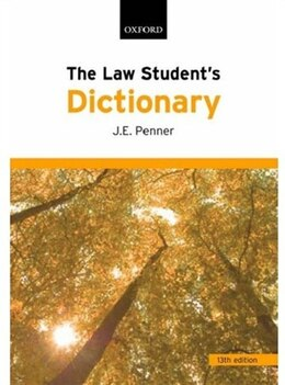 Book The Law Students Dictionary by J.E. Penner