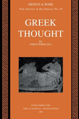 Book Greek Thought by Christopher Gill