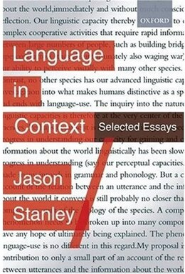 Book Language in Context: Selected Essays by Jason Stanley
