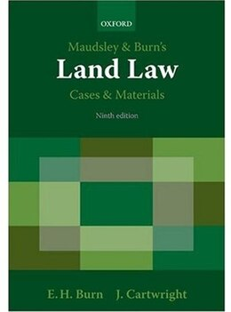 Book Maudsley and Burns Land Law Cases and Materials by Edward Burn