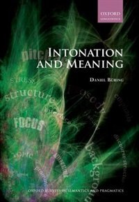 Book Intonation and Meaning by Daniel Buring