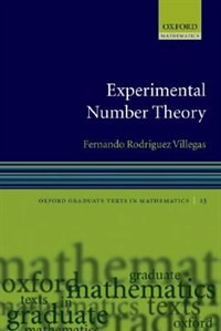 Book Experimental Number Theory by Fernando Rodriguez Villegas