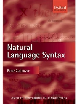Book Natural Language Syntax by Peter W. Culicover