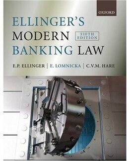 Book Ellingers Modern Banking Law by E.Peter Ellinger