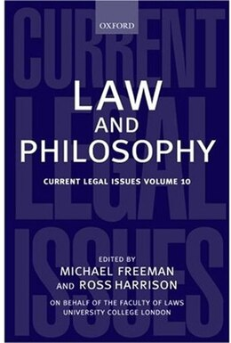 Book Law and Philosophy by Michael Freeman