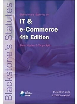 Book Blackstones Statutes on IT and e-Commerce by Steve Hedley