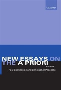 Book New Essays on the A Priori by Paul Boghossian
