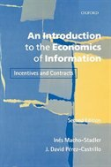 Book An Introduction to the Economics of Information: Incentives and Contracts by Ines Macho-Stadler