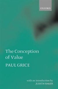 Book The Conception of Value by Paul Grice