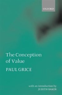 The Conception of Value