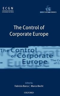 Book The Control of Corporate Europe by Fabrizio Barca