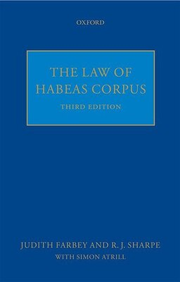 Book The Law of Habeas Corpus by A. D. R. Zellick