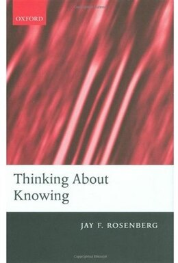 Book Thinking about Knowing by Jay Rosenberg