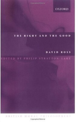 Book The Right and the Good by David Ross