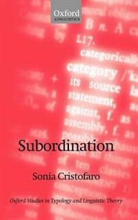 Book Subordination by Sonia Cristofaro
