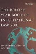 Book British Year Book of International Law 2001 Volume 72 by James Crawford