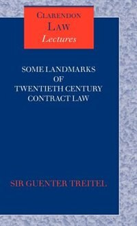 Book Some Landmarks of Twentieth Century Contract Law by Guenter Treitel
