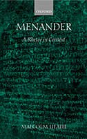 Book Menander: A Rhetor in Context by Malcolm Heath