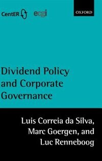 Book Dividend Policy and Corporate Governance by Luis Correia da Silva