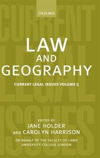 Book Law and Geography by Jane Holder