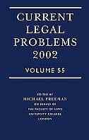 Book Current Legal Problems Volume 55 2002: Current Legal Problems 2002 Vo by Michael Freeman