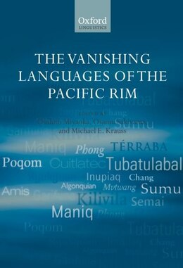 Book The Vanishing Languages of the Pacific Rim by Osahito Miyaoka
