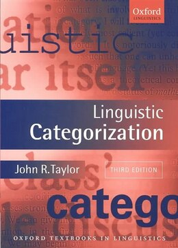 Book Linguistic Categorization by John R. Taylor