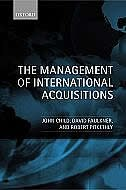 Book The Management of International Acquisitions by John Child