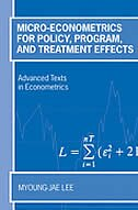 Book Micro-Econometrics for Policy, Program and Treatment Effects by Myoung-jae Lee